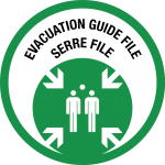 Picto évacuation guide file et serre file