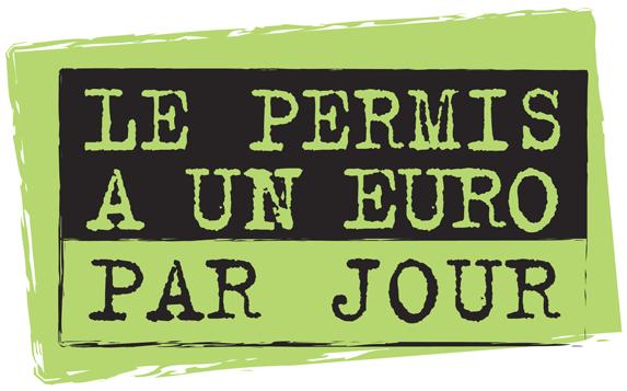 logo Le permis à une euro par jour